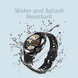 Water and Splash Resistant