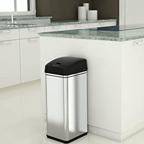 Amazoncom iTouchless 13 Gallon Stainless Steel Automatic Trash