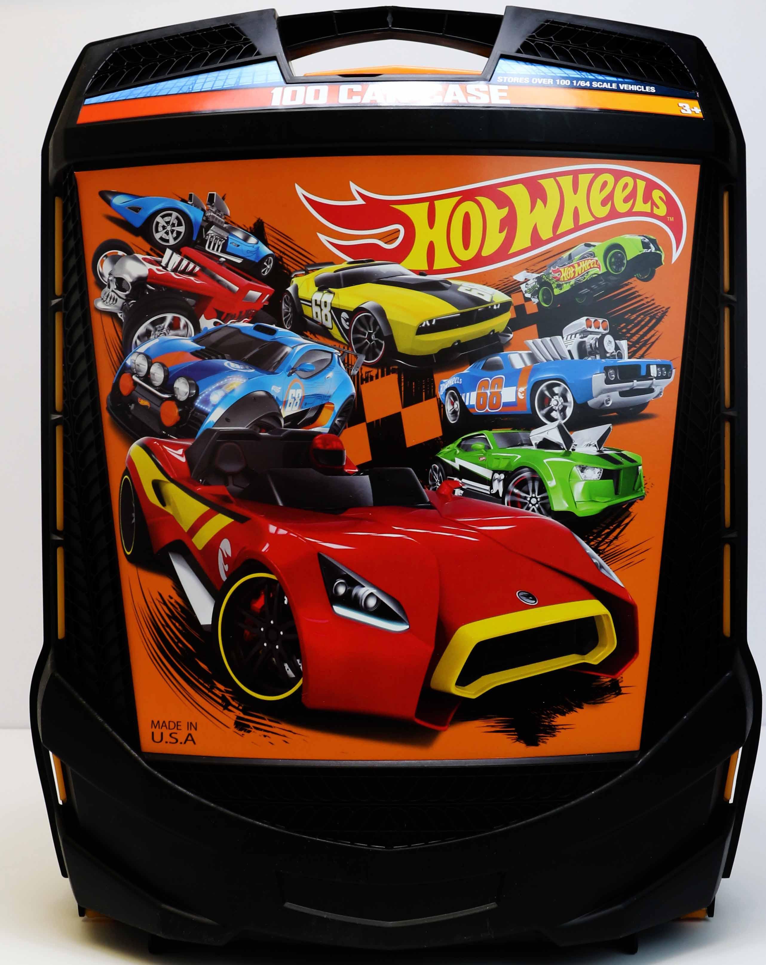 Amazon Com Hot Wheels 100 Car Case Toys Amp Games