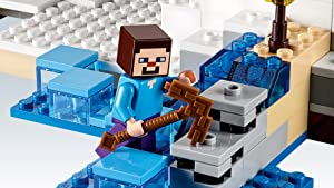 Steve minifigure with pickaxe