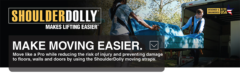 shoulder dolly, moving straps, moving dolly