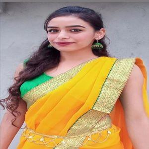 yellow chrome green chiffon saree sari under 499 with blouse jacquard blouse
