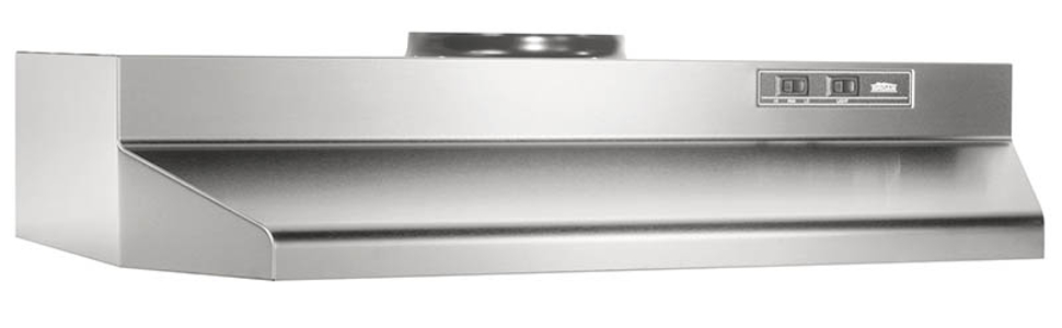 Broan-Nutone 423604 Range Hood Insert with Light, Exhaust Fan for Under  Cabinet, Stainless Steel, 6 0 Sones, 190 CFM, 36