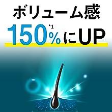 ボリューム感150%にUP!