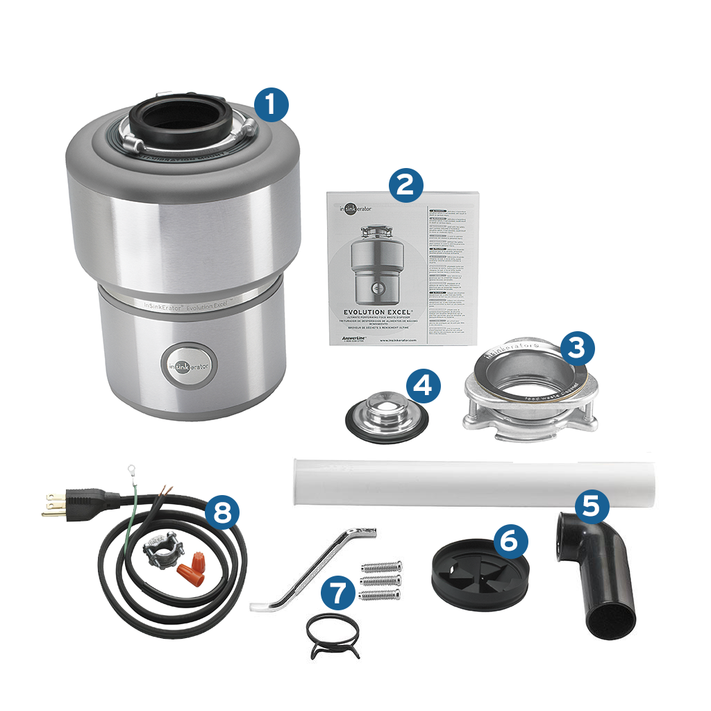 Insinkerator Evolution Excel 1 0 Hp Household Disposer And