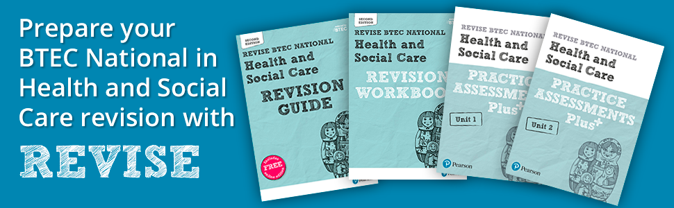 revise, oxford, collins, btec health & social care revision, revision guide, workbook, assessment