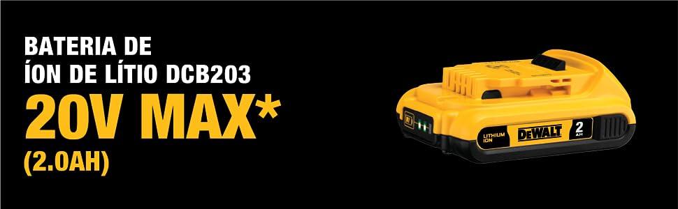 DCD796D2 - Bateria de íon de Litio DCB203