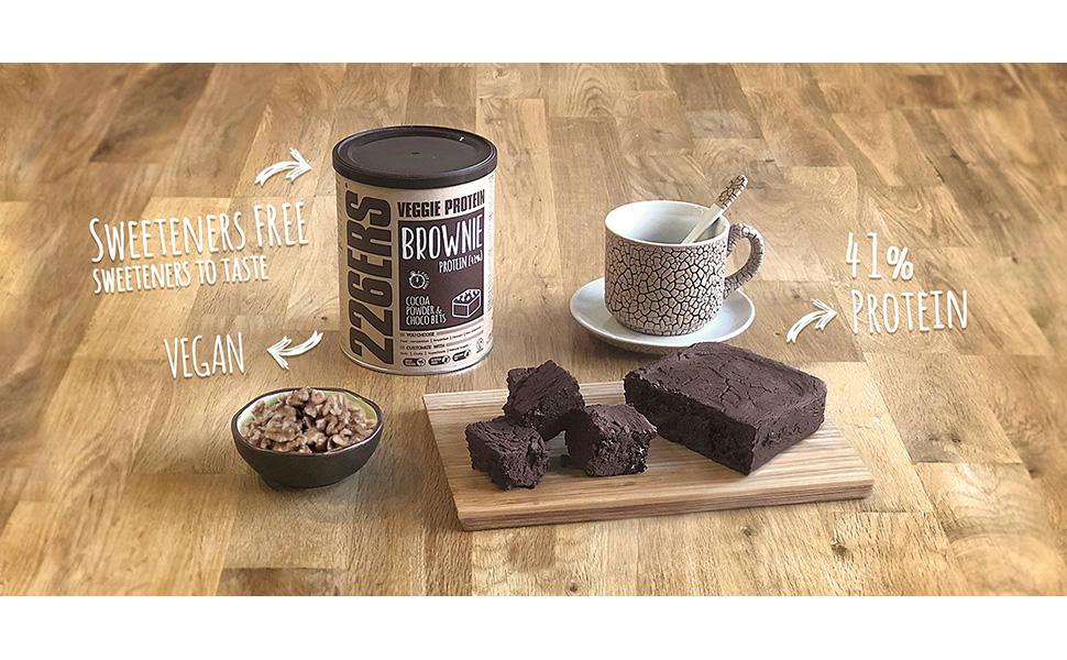 226ERS Evo Vegan Protein Brownie   Brownies de Proteína Veganos, Mezcla con Harina de Teff, Cocoa & Choco Bits - 420 gr
