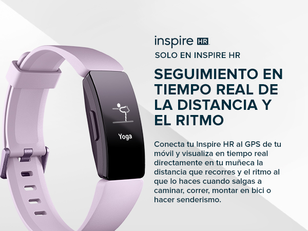 b4585856eab9 Fitbit Inspire HR, Pulsera de salud y actividad física con ritmo cardiaco,  Lila