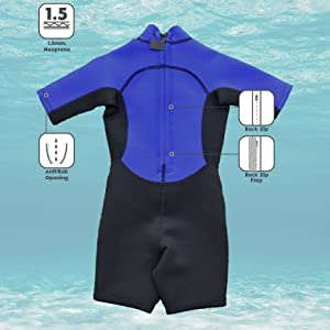 Kounga Deep Water Shorty Traje de Surf, Unisex niños: Amazon.es ...