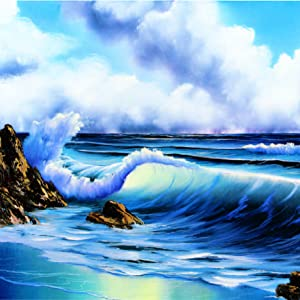 Painting With Bob Ross ocean landscape