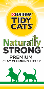 Purina Tidy Cats Naturally Strong premium clay clumping cat litter