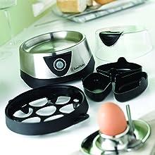 Eierkoker 14048-56, Geschikt voor max. 7 gekookte eieren en 3 gepocheerde eieren