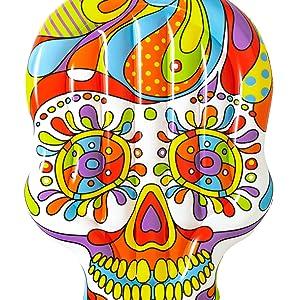 BESTWAY 43194 - Isla Hinchable Calavera Fiesta Skull 193x141 cm: Amazon.es: Juguetes y juegos