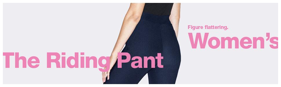 women's, riding pant, figure flattering, american apparel