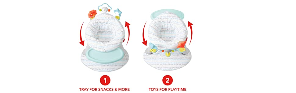 Amazon.com: Skip Hop Silla de bebé 2 en 1 con forro plateado ...