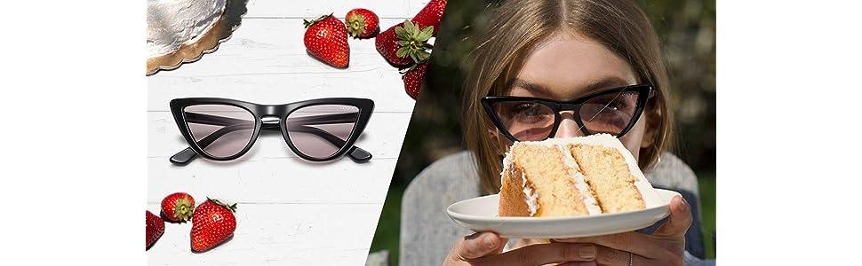 Gigi Hadid For Vogue VO 5211S W44//5 Black Plastic Cat-Eye Sunglasses Pink Lens
