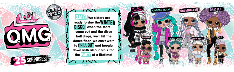 LOl wsinter disco; lol winter omg dolls; lol winter series fashion dolls; omg fashion dolls