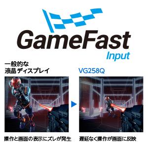 入力遅延を極限まで抑えるGameFast入力技術を搭載