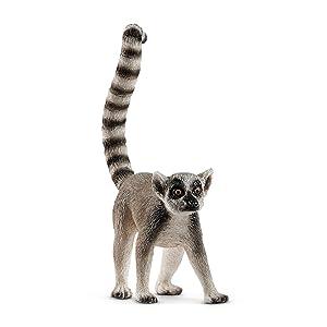 ring tailed lemur, lemur, lemur figurine,schleich lemur, schleich ring tailed lemur,schleich animals