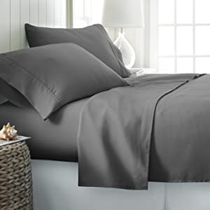 deep pocket queen sheets bed size gray set ienjoy home sheet jersey hotel collection black bed sheet