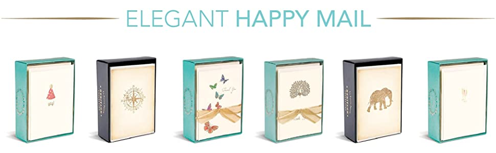 elegant happy mail envelope note card set send