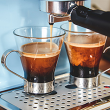 Swan Espresso Machine 2 cups at once