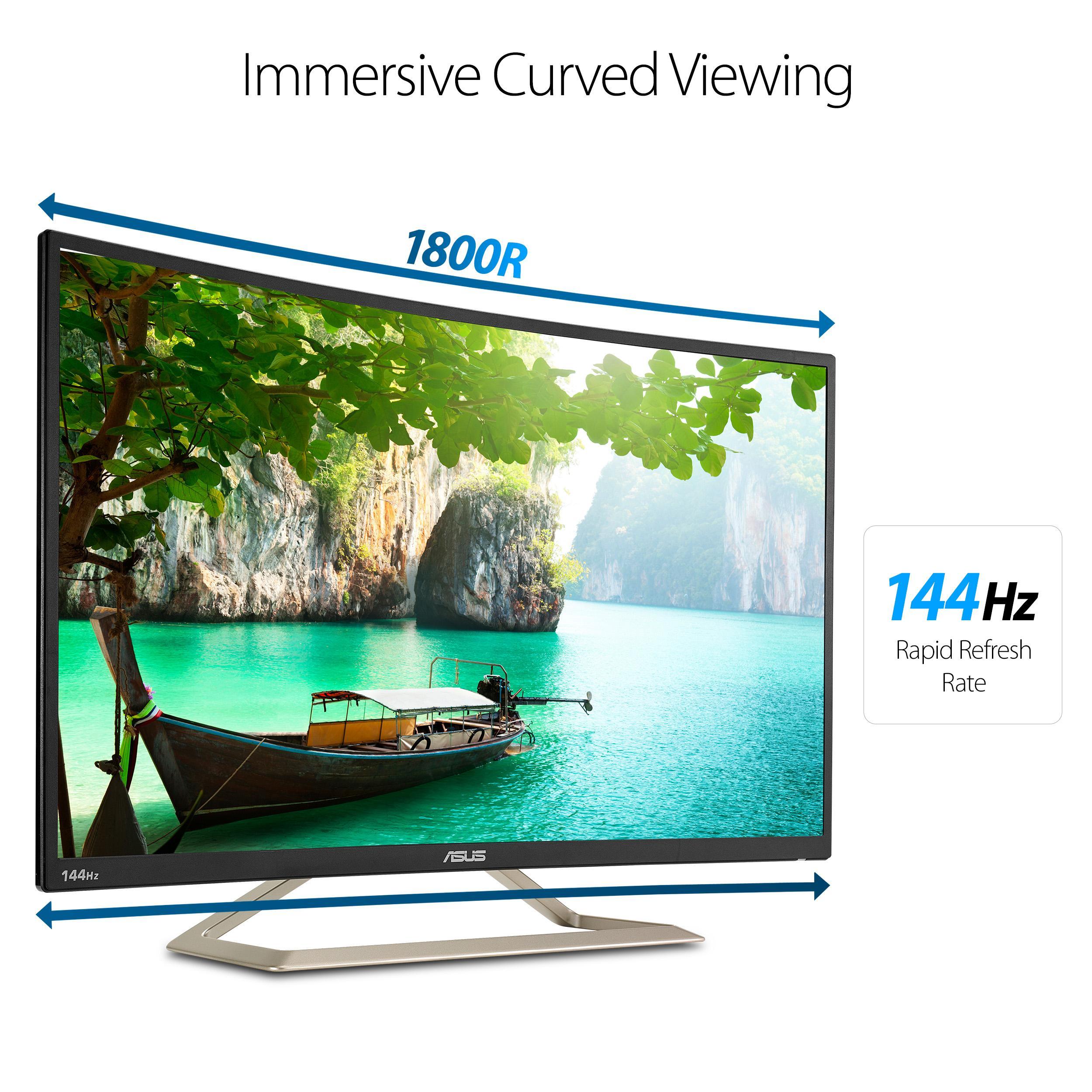 "ASUS Curved VA326H 31 5"" Full HD 1080p 144Hz HDMI VGA DVI Eye Care Monitor"