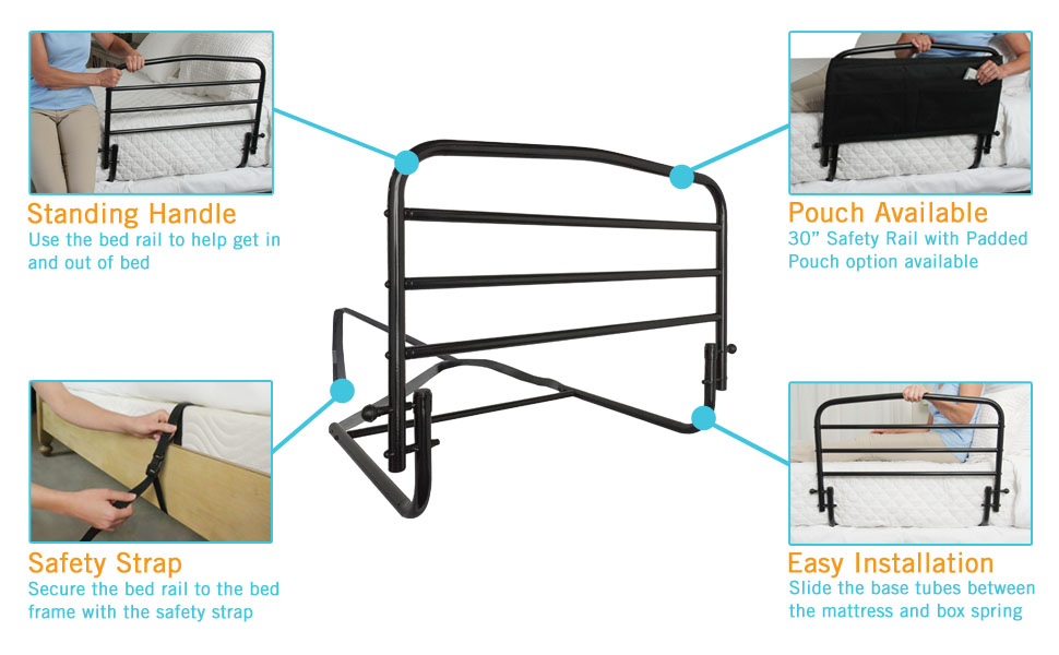 Amazon Com Stander 30 Safety Adult Bed Rail Home Elderly