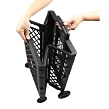 Olympia Tools 85-404 Pack-N-Roll Mesh Rolling Cart being unfolded.