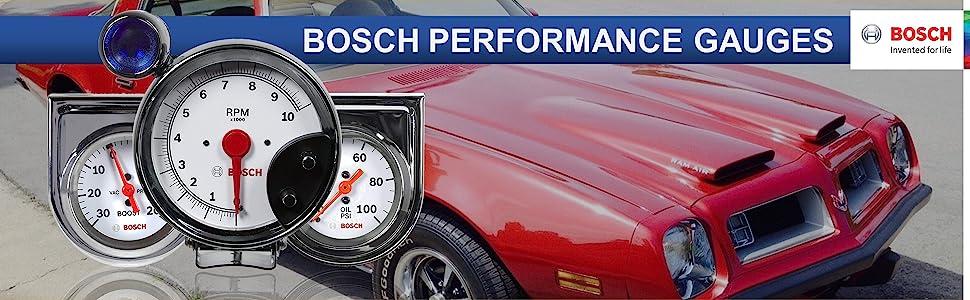 BOSCH Performance Gauge Gauges Sport I II Retro Style Line Custom