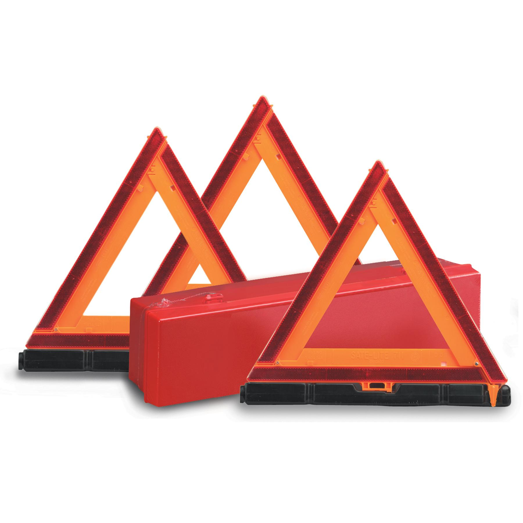 Tractor Reflective Triangles : Deflecto early warning road safety triangle kit