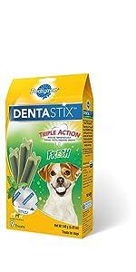 DentaStix, Fresh, Dog, Treats, Oral Care, Treats, Reduces Tartar and plaque, freshens breath