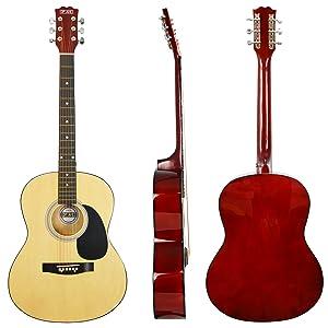 3rd Avenue Guitarra Acústica Principiante Starter Pack, Rojo ...
