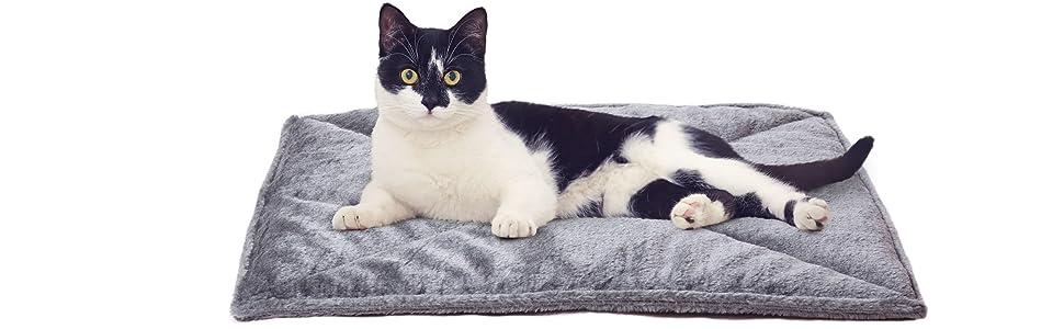 Amazon.com: Furhaven - Cama para mascotas con almohadilla de ...