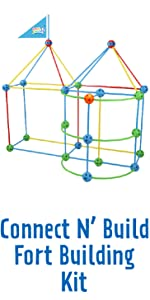 Connect N' Build Fort Building Kit