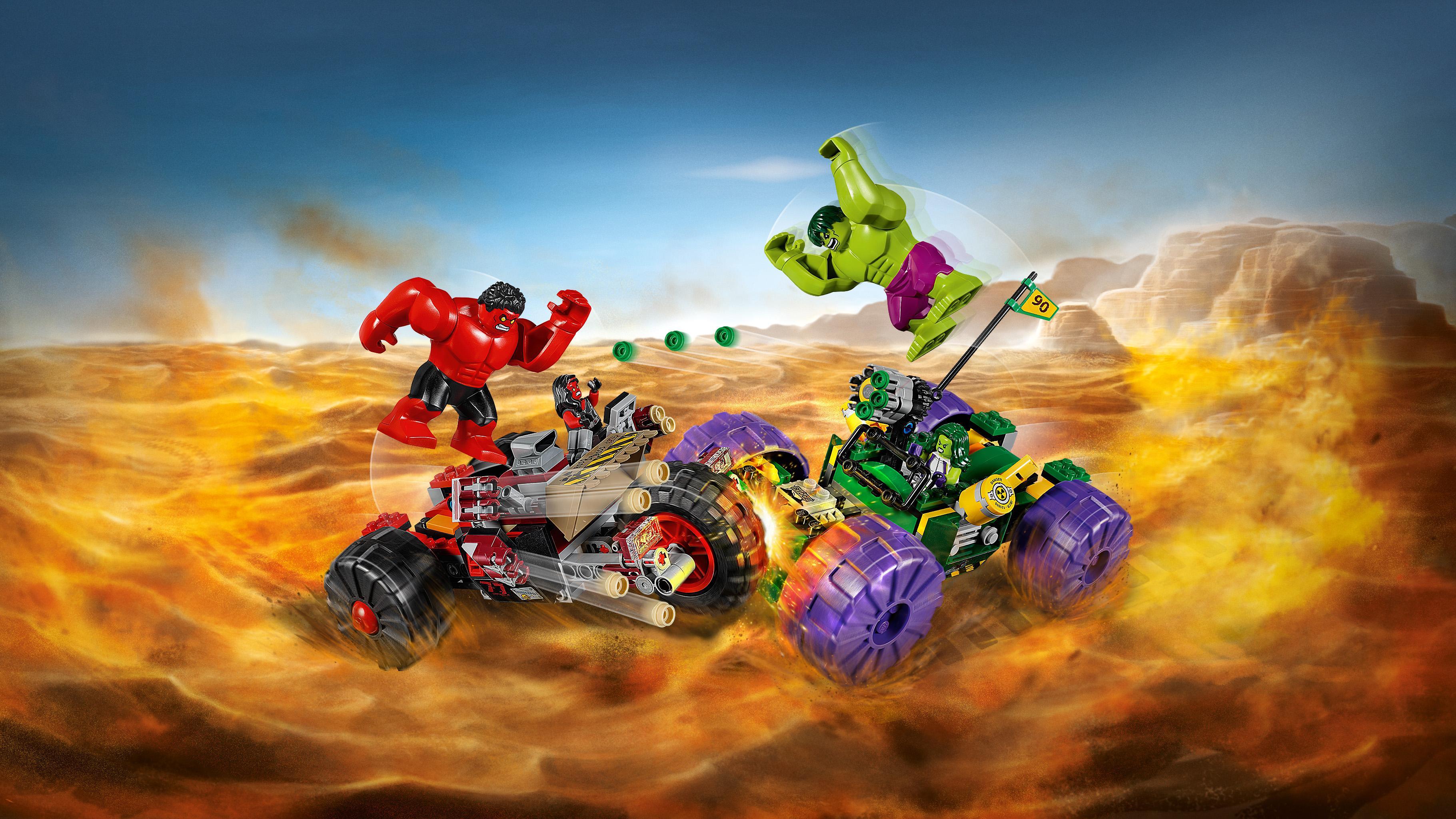 LEGO Super Heroes - Hulk vs Hulk Rojo (76078): Amazon.es