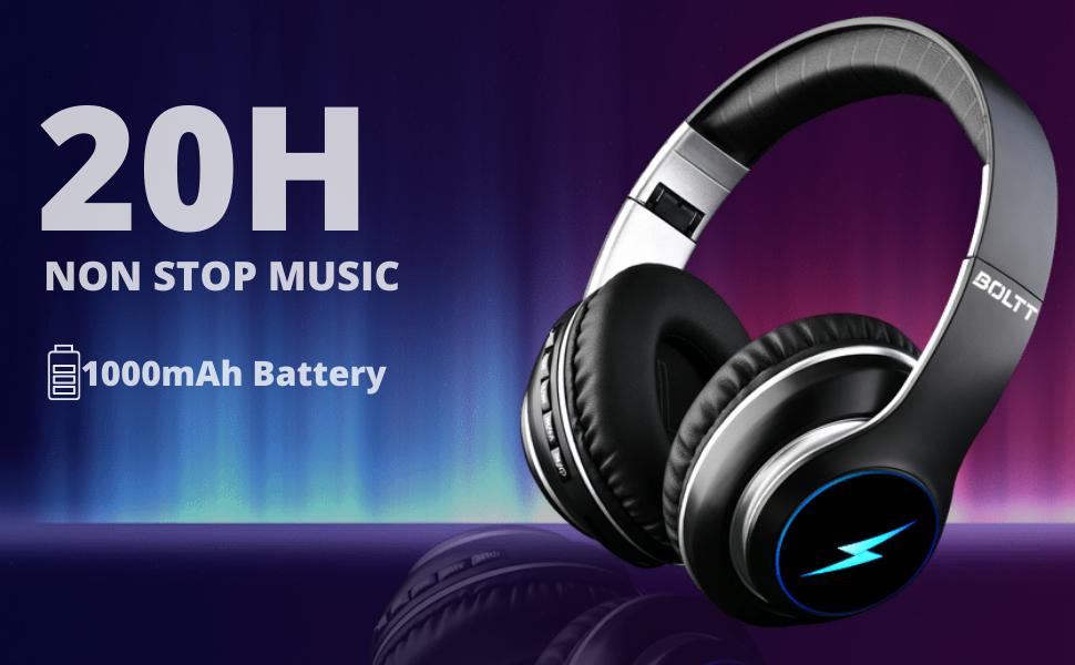 20H playtime wireless headphones