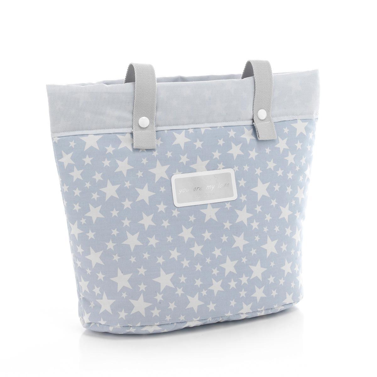 Cambrass Star - Bolso panadera, color azul celeste