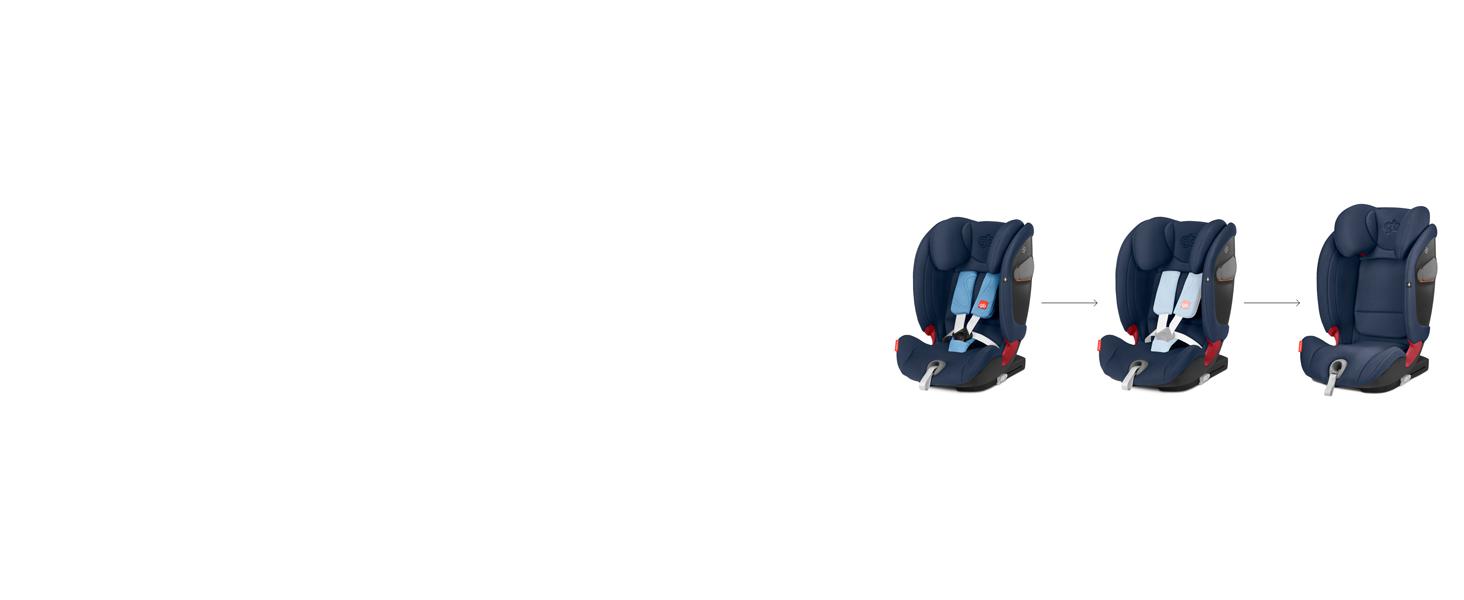 GB Gold Everna-Fix - Silla de coche para coches con ISOFIX, Grupo ...