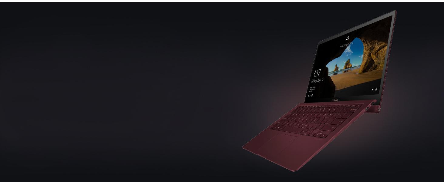 UX391 burgundy red design