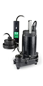 ECO-FLO Products heavy duty cast iron wifi enabled smart sump pump