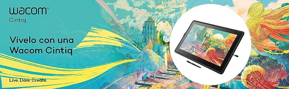 Wacom Cintiq 22 Monitor Interactivo Creativo, Soporte Regulable ...