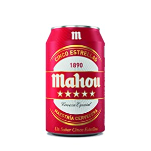 Mahou 5 Estrellas Cerveza Dorada Lager, 5.5% de volumen de alcohol - Lata de 33 cl: Amazon.es: Alimentación y bebidas