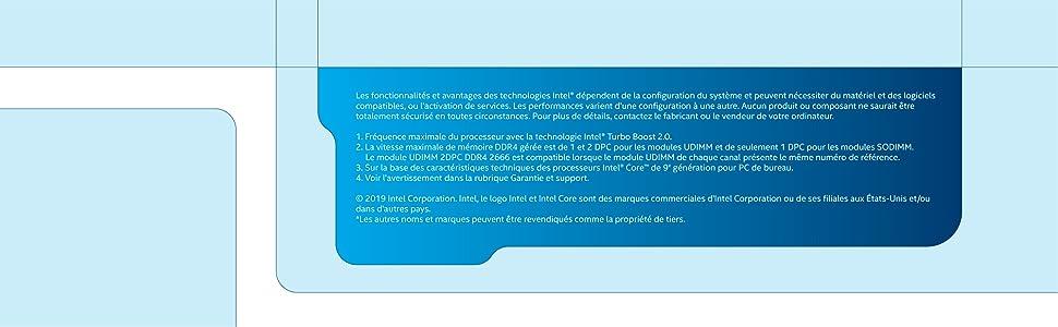 Processeur Intel Core i3-9100F De Generation