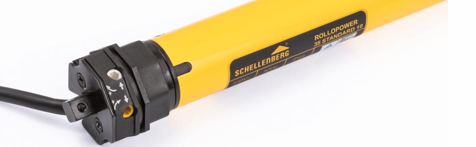 Schellenberg 20110 Rohrmotor Set Mini Premium 10 Nm mit Schellenberg 80200 Walzenh/ülse und Schellenberg 19200 Rollladenaufh/ängung