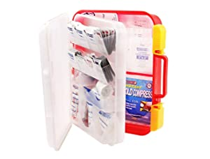 Portable compact secure first aid cabinet