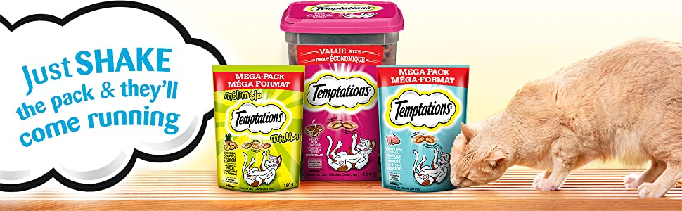 Shake the pack, They'll come running, Treat time, Low calorie, Jumbo    Stuffed, Treat them right