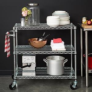 Microwave cart, NSF, kitchen cart, kitchen island, serving cart, bar cart, rolling cart