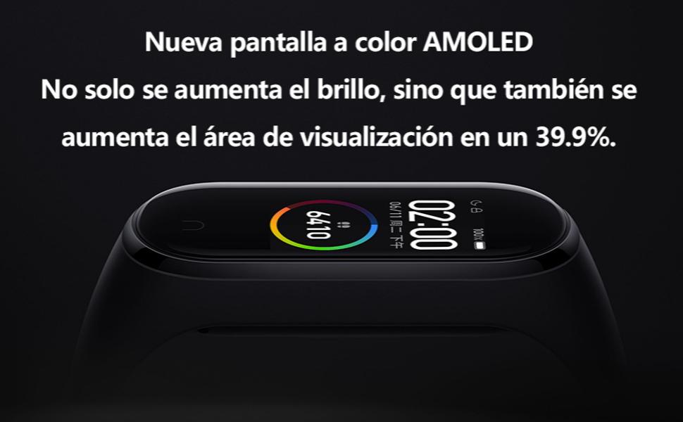 Xiaomi Band 4 Pulsera de Fitness Inteligente Monitor de Ritmo ...